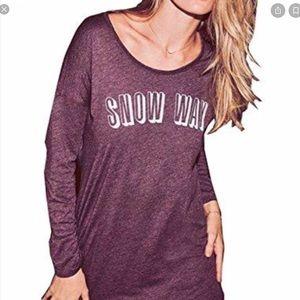 Victoria's Secret Snow Way Sleep Shirt Pajama